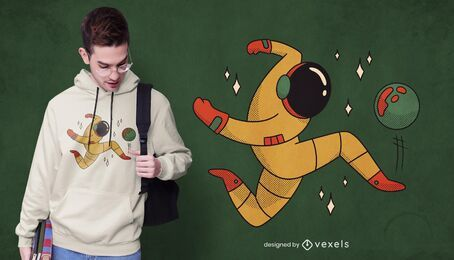 Design de camiseta de futebol de astronauta