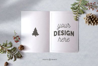 Christmas greeting card mockup design