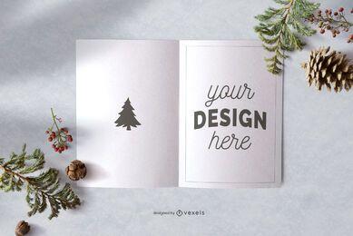 Diseño de maqueta de tarjeta de felicitación de Navidad