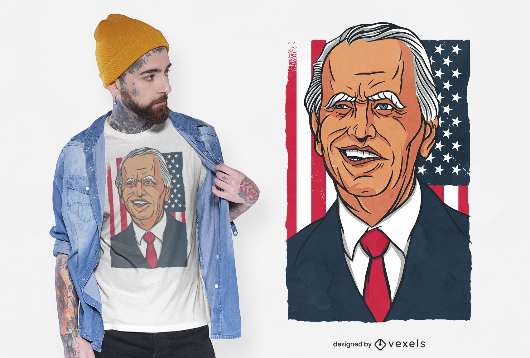 Desenho de t-shirt de desenho animado Joe biden