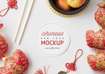 Composição de maquete chinesa