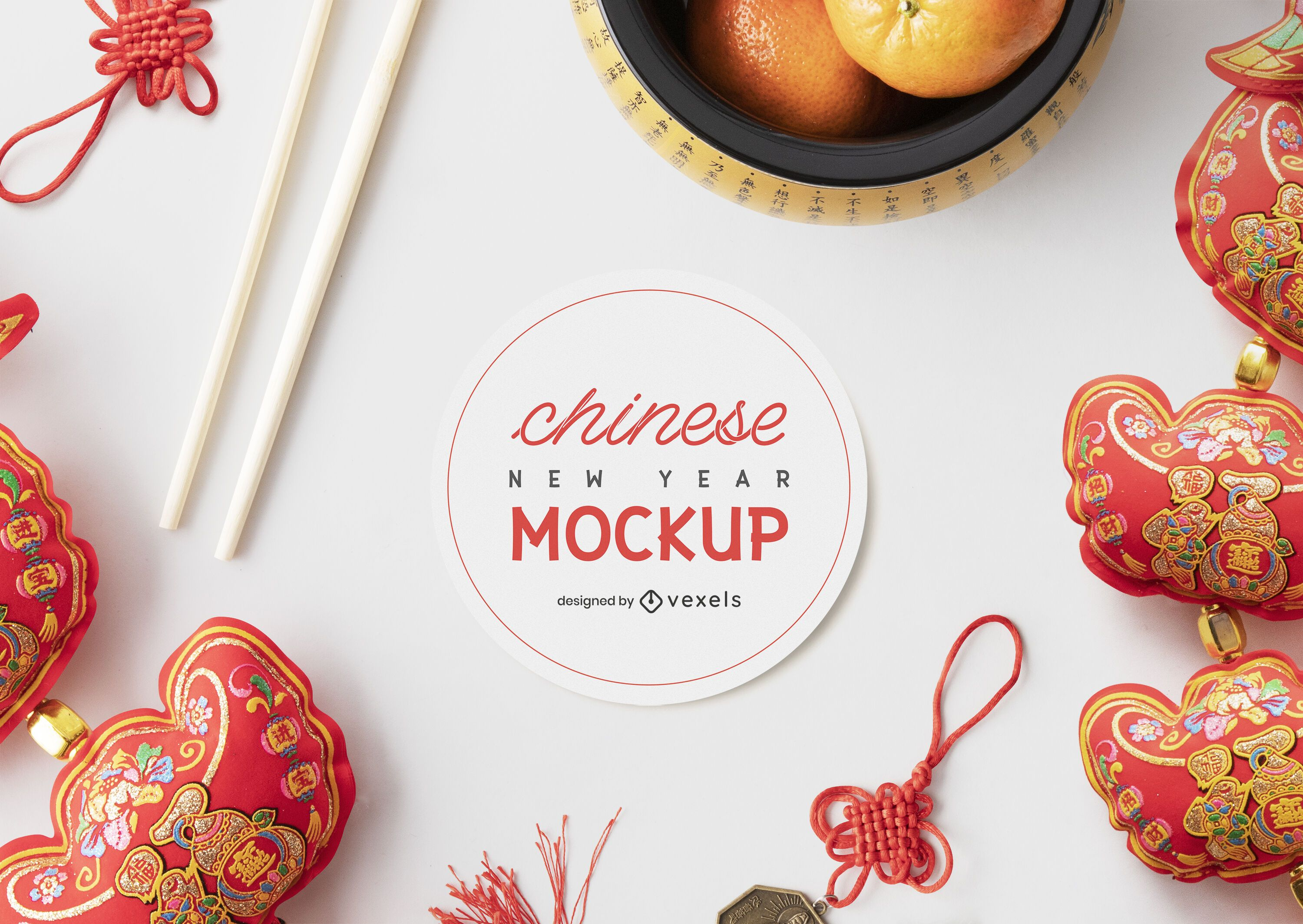 Chinese mockup composition