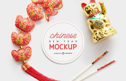 Composição da maquete chinesa de ano novo
