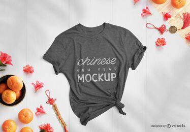 Maqueta de camiseta de año nuevo chino