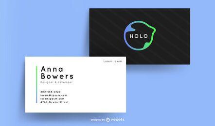 Diseño moderno de tarjetas de visita