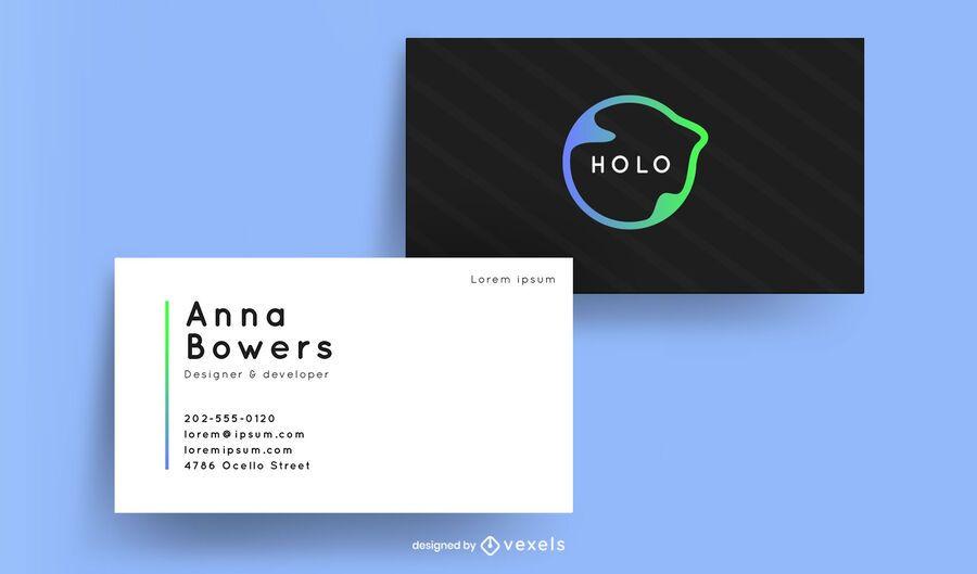 Business card modern design
