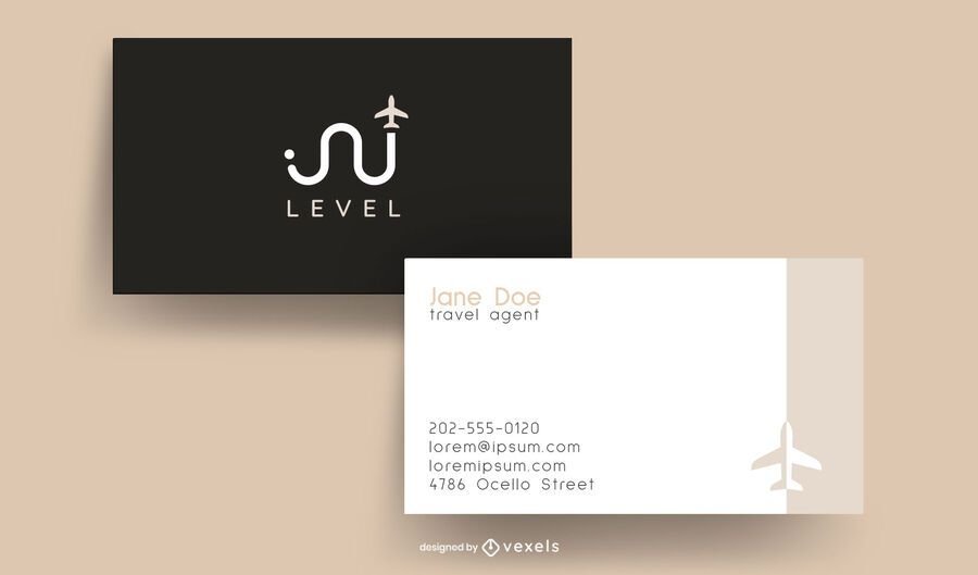 Travel agent business card design