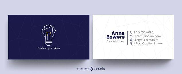 Design de cartão de visita de desenvolvedor