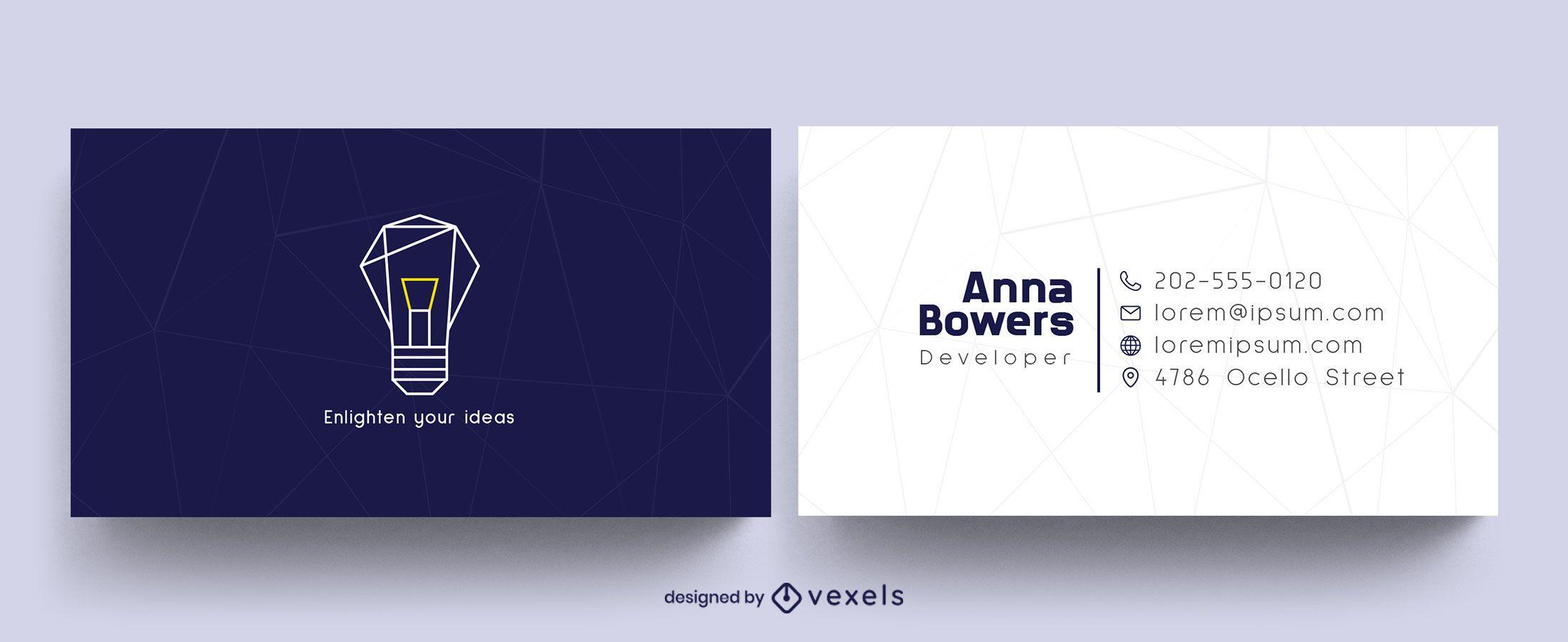 Diseño de tarjeta de presentación para desarrolladores