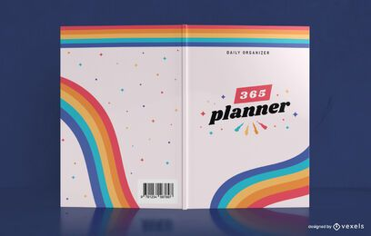 Regenbogen Jahresplaner Buchcover Design
