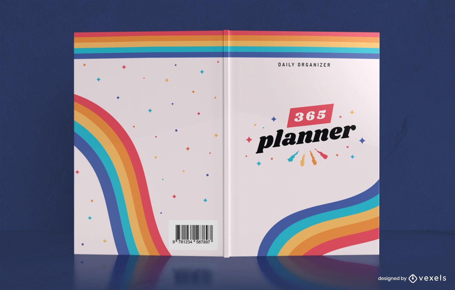 Diseño de portada de libro Rainbow Yearly Planner
