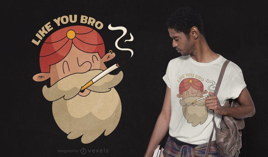 Design de camiseta para homem indiano