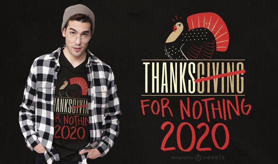 Gracias por nada diseño de camiseta.