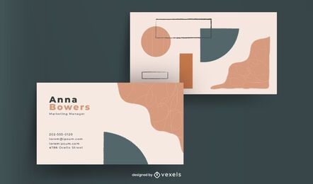Design de cartão de visita de formas abstratas