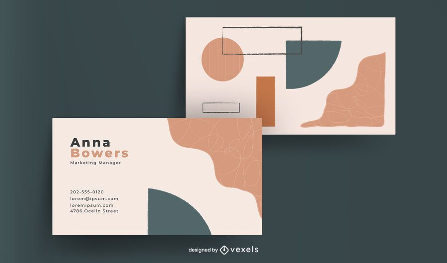 Abstract shapes business card design