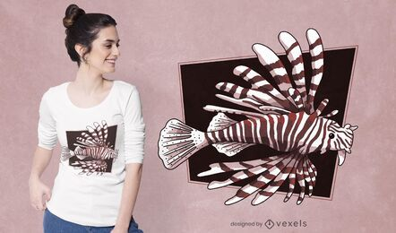 Devil firefish t-shirt design