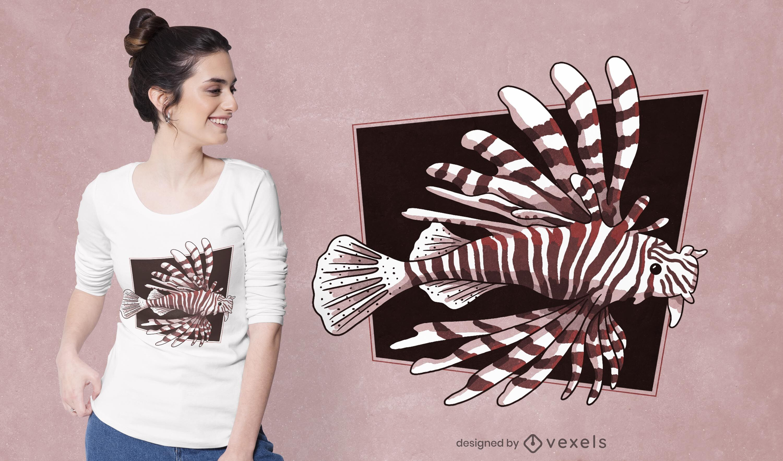 Devil firefish t-shirt design