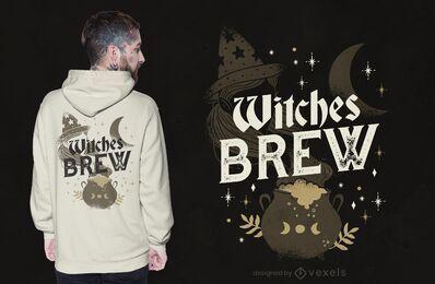 Diseño de camiseta de brujas