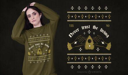 Ouija ugly sweater t-shirt design
