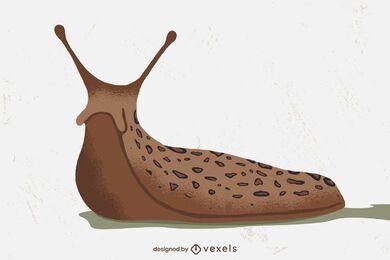 Desenho de ilustração de lesma terrestre