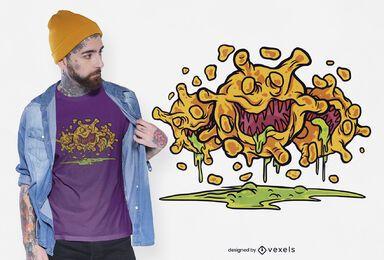 Design de camiseta de vírus Covid19