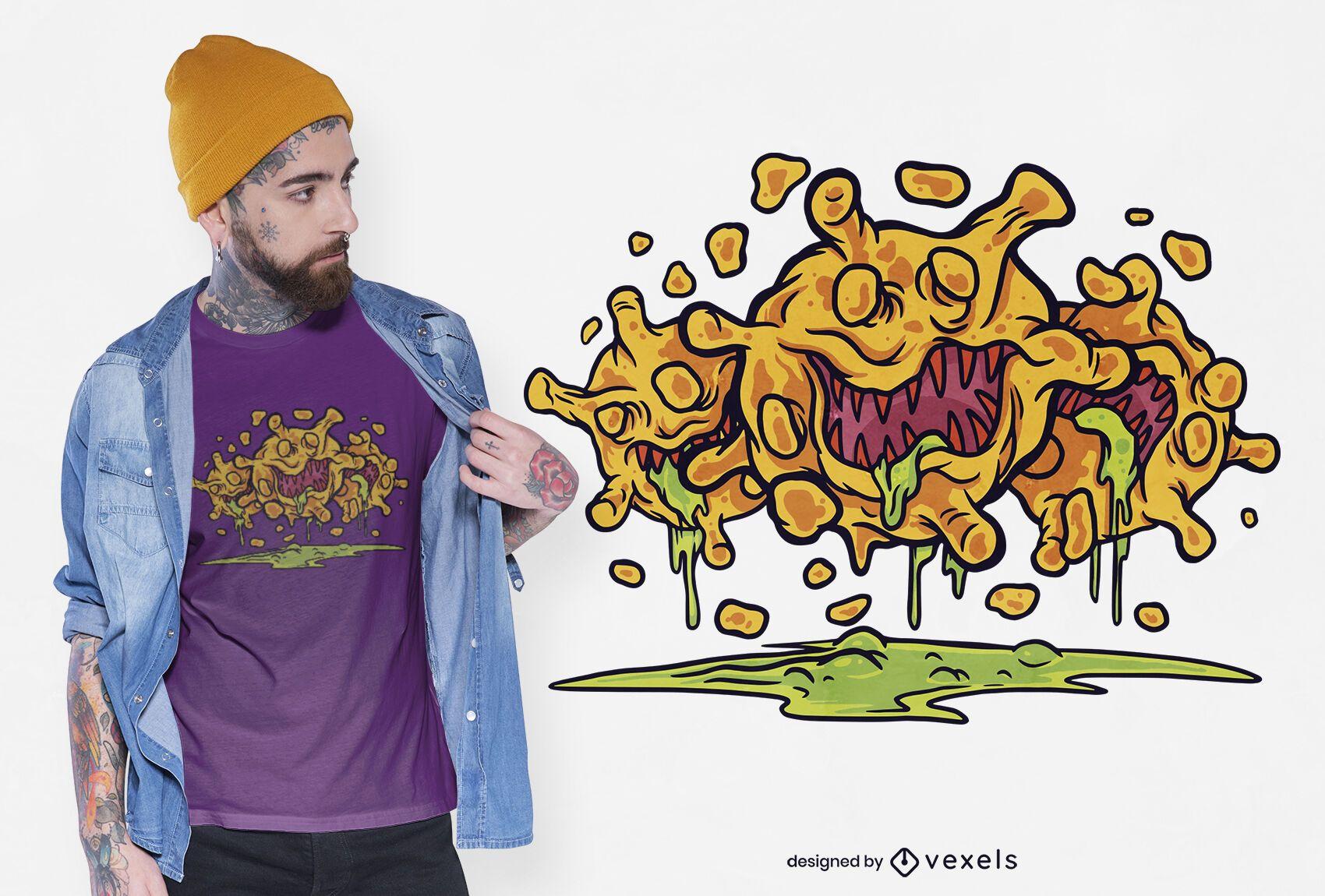 Diseño de camiseta de virus Covid19