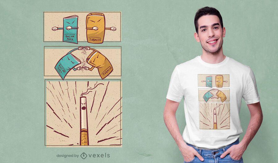 Design de camiseta com fusão de tabaco