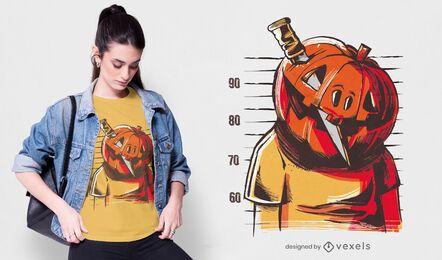 Diseño de camiseta de calabaza prisionero