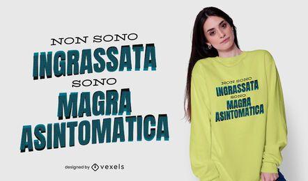 Não sou gordo com design de camiseta italiana
