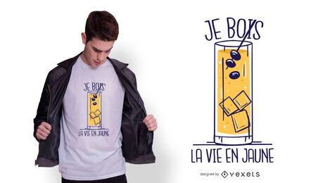 Pastis french quote t-shirt design