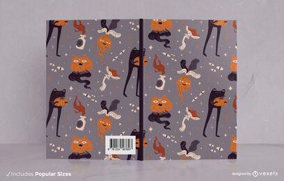 Diseño de portada de libro de monstruos de Halloween