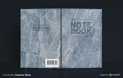 Diseño de portada de libro de textura de mármol