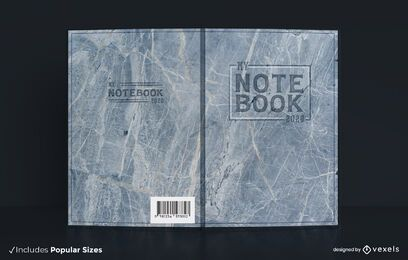 Marble texture book cover design