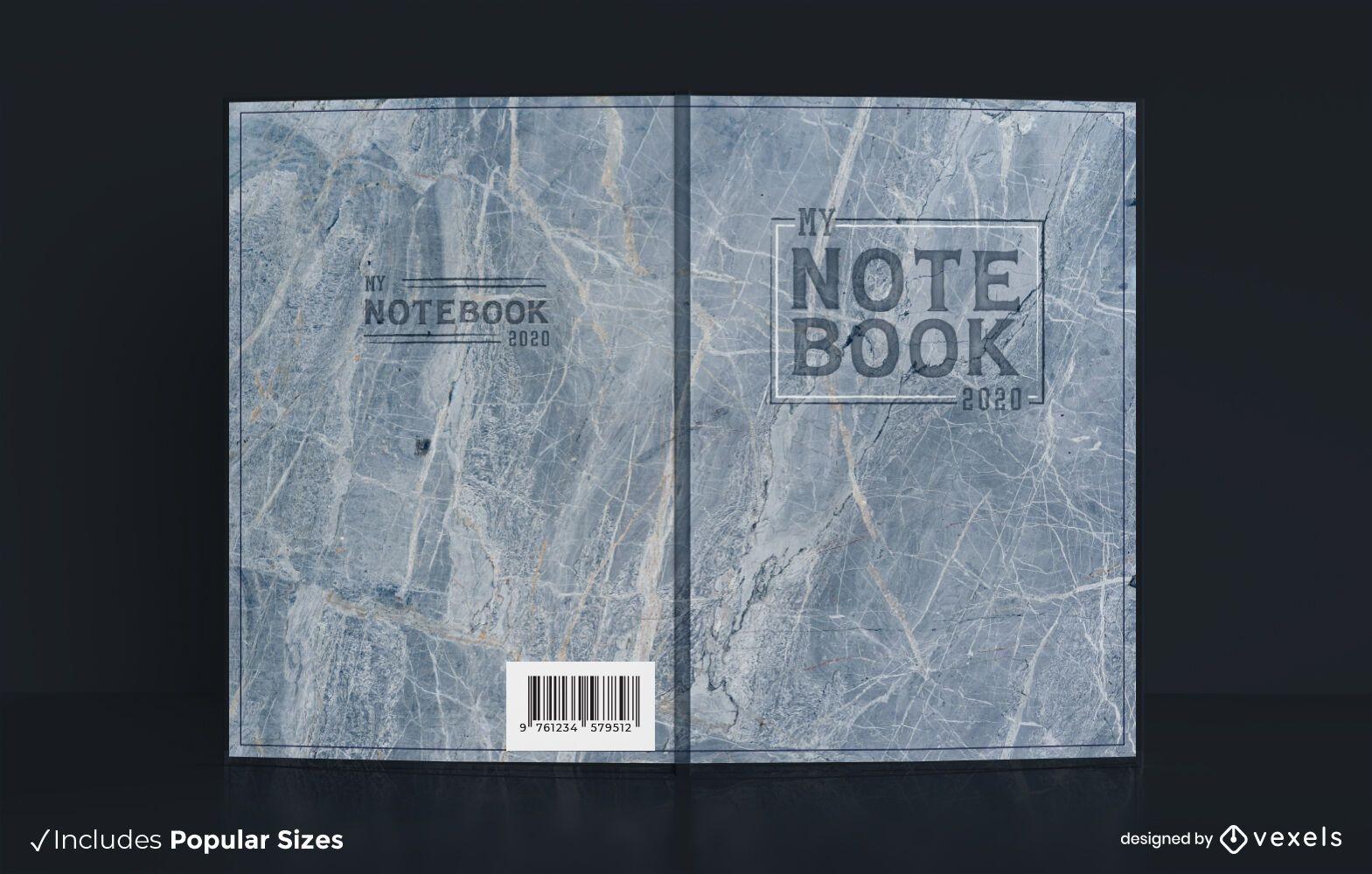 Marmor Textur Buchcover Design