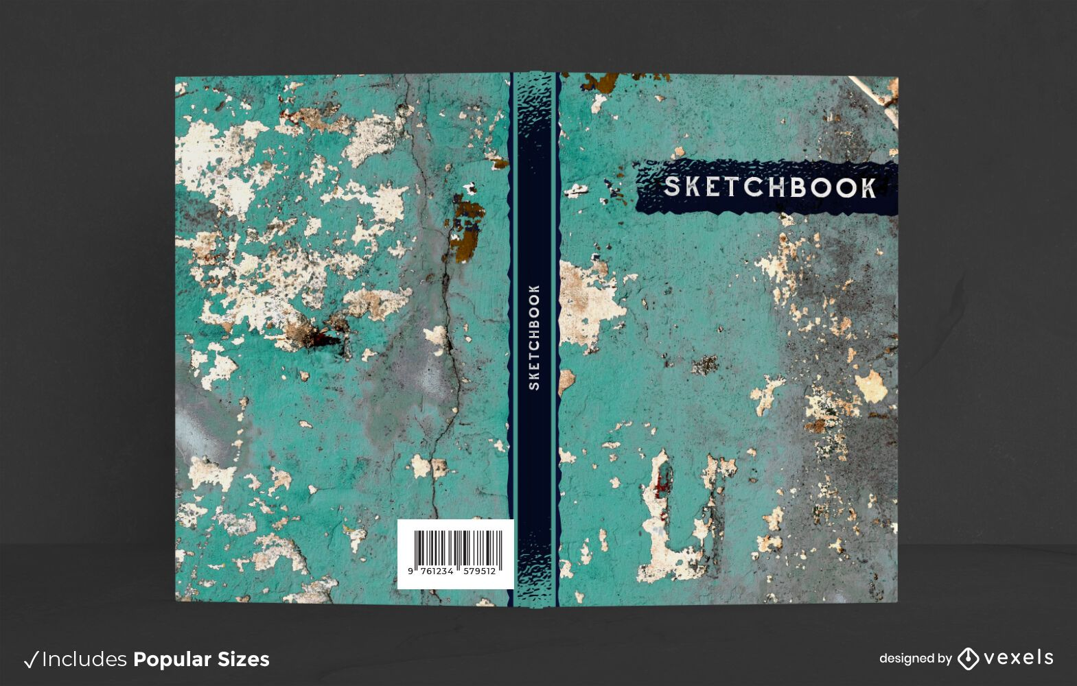 Design de capa de livro com textura de parede