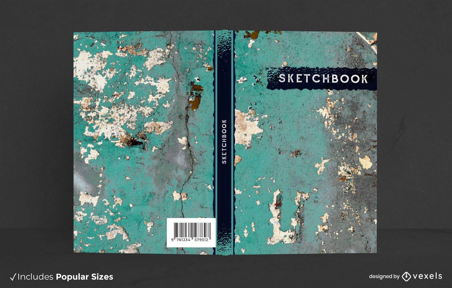 Diseño de portada de libro de textura de pared
