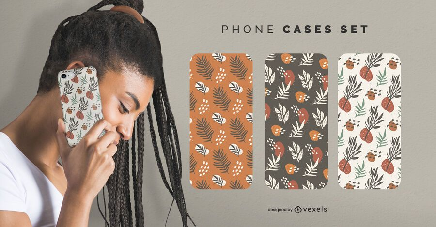 Leaves phone cases set