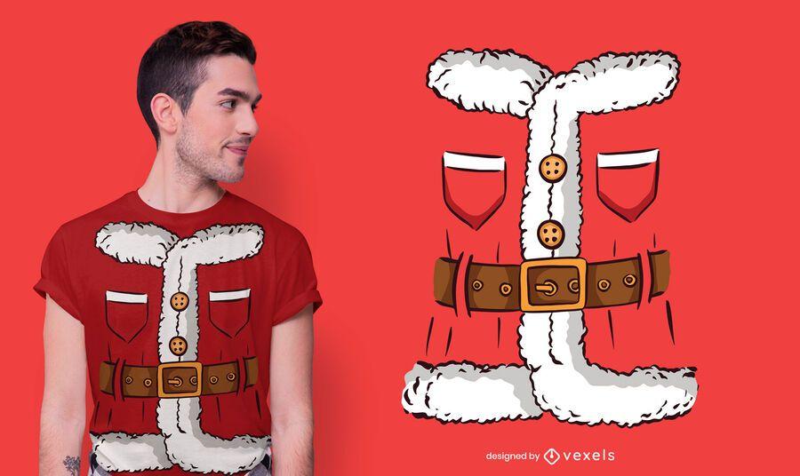 Design de camiseta fantasia de Papai Noel