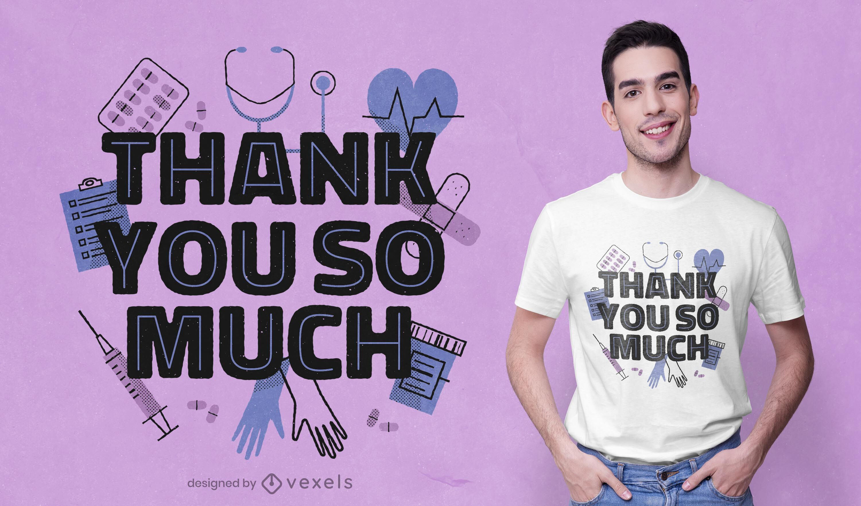Thank you health care t-shirt design