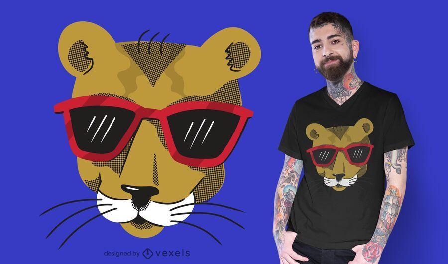 Design de t-shirt Col Cougar