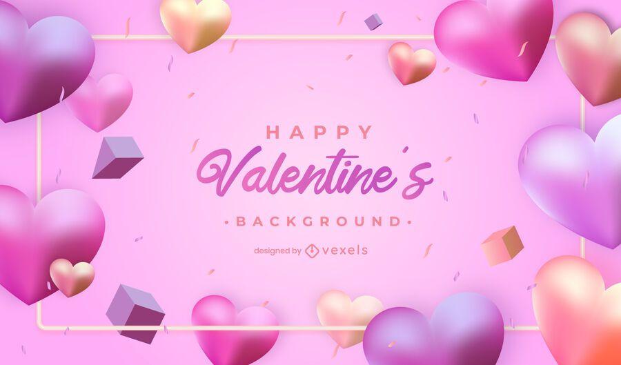 Valentine's day hearts background design
