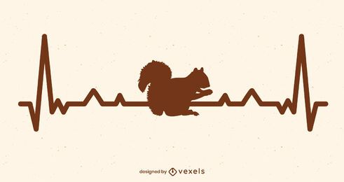Heart rate squirrel illustration design