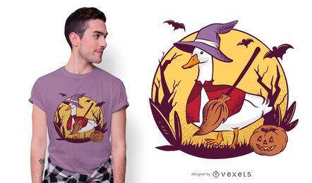 Design de camiseta ganso para o Halloween