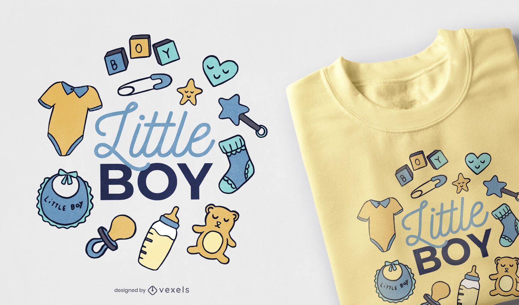 Diseño de camiseta de niño pequeño