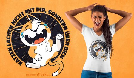 Laughing cat quote t-shirt design