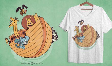Design da t-shirt da Arca de Noé