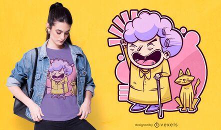 Design de t-shirt da avó mal-humorada