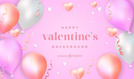 Valentine's day balloons background design