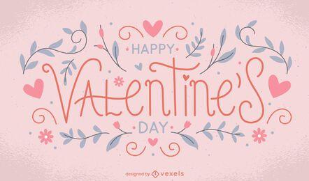 Valentine's day lettering design