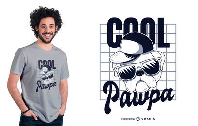 Cool pawpa t-shirt design